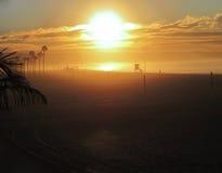 Goodnight California. The sun sets over the California beach Royalty Free Stock Photography