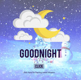 Goodnight Sweet Dreams Happiness Sleep Relief Concept Royalty Free Stock Photography