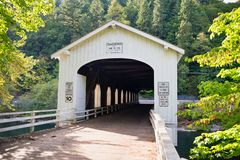 Goodpasture Bridge Lane county, Oregon stock photos
