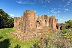 Goodrich Castle - front view, Herefordshire. Goodrich is built on a sandstone outcrop and is one of the finest and best preserved of the English medieval Royalty Free Stock Photography