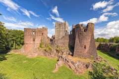 Goodrich Castle, Herefordshire. Goodrich is built on a sandstone outcrop and is one of the finest and best preserved of the English medieval castles Royalty Free Stock Photography