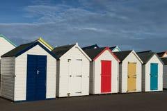 Goodrington海滩小屋 库存图片