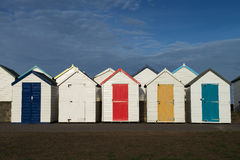 Goodrington Beach Huts Stock Photos