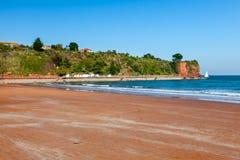 Goodrington lixa a praia Devon imagens de stock
