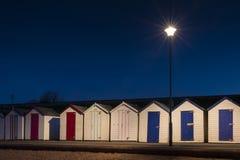 Goodrington plaży budy Obrazy Stock