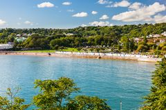 Goodrington sandpapprar Devon England UK arkivbilder