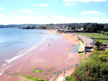 Goodrington Sands, Paignton, Devon. Stock Photography