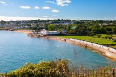 Goodrington versandet Devon England Großbritannien Stockfoto