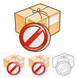 Goods addressee absence Illustration. Product and Distribution S Royalty Free Stock Image
