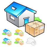 Goods addressee transfer Illustration. Product and Distribution Stock Image