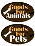 Goods for Animals and Pets Royalty Free Stock Image
