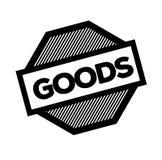 Goods black stamp. On white background. Sign, label, sticker vector illustration