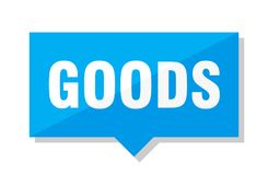 Goods price tag. Goods blue square price tag royalty free illustration