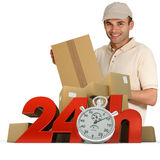 Goods delivery in 24 hrs Royalty Free Stock Photos