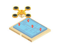 Goods Delivery Tracking Isometric Illustration Stock Image