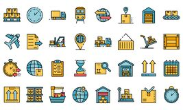 Free Goods Export Icons Set Vector Flat Stock Photography - 187867252