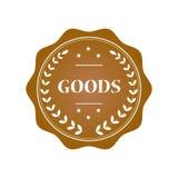 Goods stamp illustration. Goods gold stamp design illustration royalty free illustration