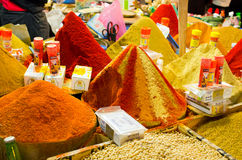 Goods on the market in Taroudant, Morocco. Taroudant, Morocco - March 22, 2016: Goods on the market. This is one of most known markets in Morocco Royalty Free Stock Images