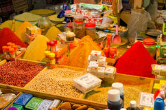 Goods on the market in Taroudant, Morocco. Taroudant, Morocco - March 22, 2016: Goods on the market. This is one of most known markets in Morocco Stock Photos