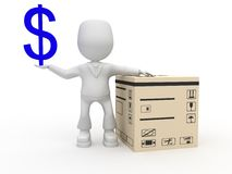 Goods and money Stock Photography