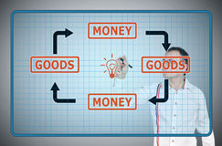 Goods and money Stock Image