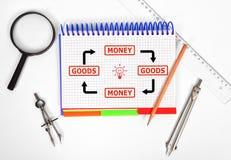 Goods and money concept Stock Photo