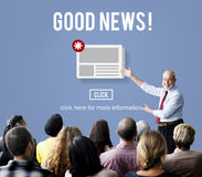 Goods News Newsletter Announcement Daily Concept Royalty Free Stock Photos