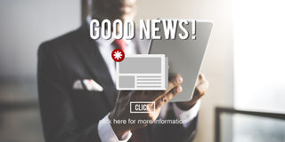 Goods News Newsletter Announcement Daily Concept Royalty Free Stock Images