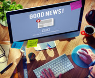 Goods News Newsletter Announcement Daily Concept Royalty Free Stock Image