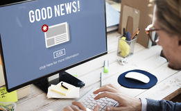 Goods News Newsletter Announcement Daily Concept Royalty Free Stock Photo