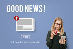 Goods News Newsletter Announcement Daily Concept Stock Photos