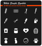Goods for pets icon set. Goods for pets icons for user interface design stock illustration