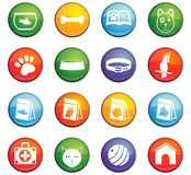 Goods for pets icon set. Goods for pets  icons for user interface design Stock Photos