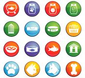 Goods for pets icon set. Goods for pets  icons for user interface design Stock Image