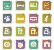 Goods for pets icon set. Goods for pets  icons for user interface design Royalty Free Stock Photos