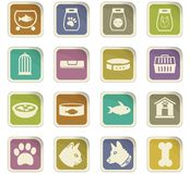 Goods for pets icon set. Goods for pets  icons for user interface design Royalty Free Stock Photo