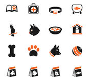 Goods for pets icon set. Goods for pets web icons for user interface design Stock Photos