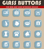 Goods for pets icon set. Goods for pets web icons for user interface design Stock Photography