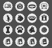 Goods for pets icon set. Goods for pets web icons for user interface design Stock Images