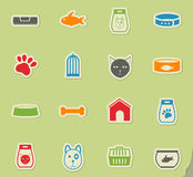 Goods for pets icon set. Goods for pets web icons for user interface design Royalty Free Stock Photography