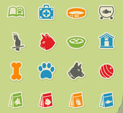 Goods for pets icon set. Goods for pets web icons for user interface design Royalty Free Stock Images