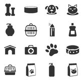 Goods for pets icons set Stock Images