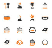Goods for pets icons set Royalty Free Stock Photos