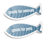 Goods for pets stickers. Goods for pets and animals stickers set royalty free illustration