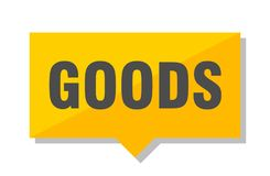 Goods price tag. Goods yellow square price tag royalty free illustration