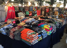 Goods for sale at French market in city New Orleans Royalty Free Stock Images
