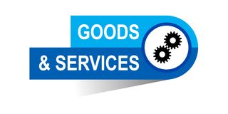 Goods and services banner. Icon on isolated white background - vector illustration Royalty Free Stock Photo