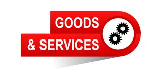 Goods and services banner. Icon on isolated white background - vector illustration Royalty Free Stock Images