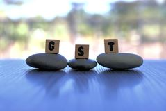 Goods and Services Tax or GST as three letter word Stock Photos