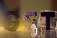 Goods and Services Tax , GST concept. Photography stock photo